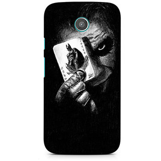 CopyCatz Joker with Batman Card Premium Printed Case For Moto E