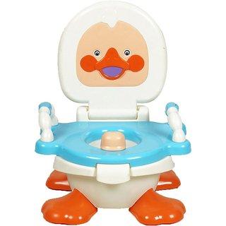 Gold Dust Panda Duck Baby Traning Potty Seat (White)