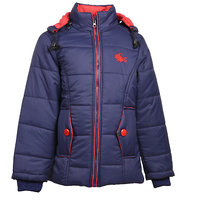 MSG Navy Full Sleeve Jacket For Girl's Kids