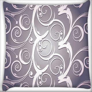 Snoogg Abstract White Grey Pattern Digitally Printed Cushion Cover Pillow 20 x 20 Inch