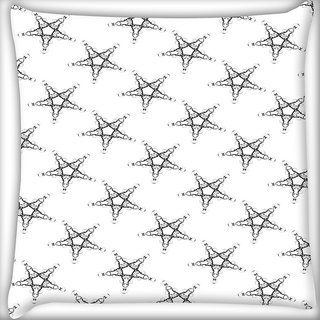 Snoogg Plenty Of Stars Digitally Printed Cushion Cover Pillow 20 x 20 Inch