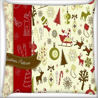 Snoogg Christmas Season Digitally Printed Cushion Cover Pillow 20 x 20 Inch