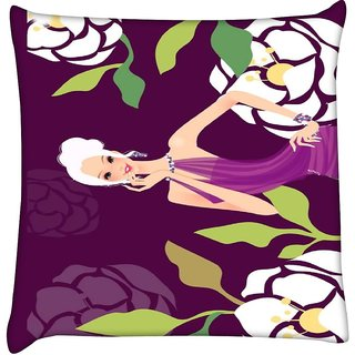 Snoogg urban chic 2489  Digitally Printed Cushion Cover Pillow 16 x 16 Inch