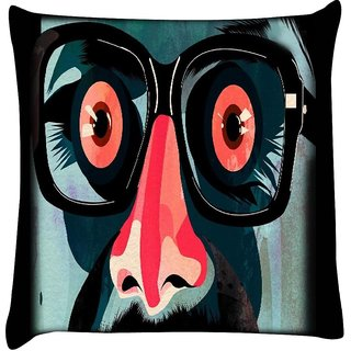 Snoogg Staring 2536  Digitally Printed Cushion Cover Pillow 16 x 16 Inch