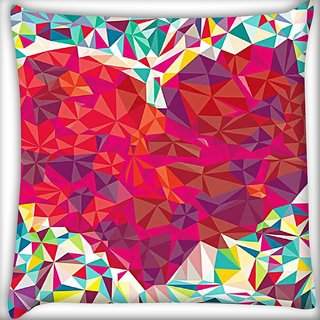 Snoogg pattern heart Digitally Printed Cushion Cover Pillow 16 x 16 Inch