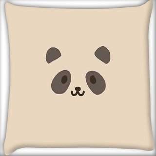 Snoogg Panda Cute Digitally Printed Cushion Cover Pillow 16 x 16 Inch