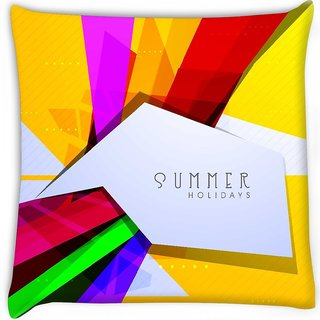 Snoogg  abstract summer background Digitally Printed Cushion Cover Pillow 16 x 16 Inch