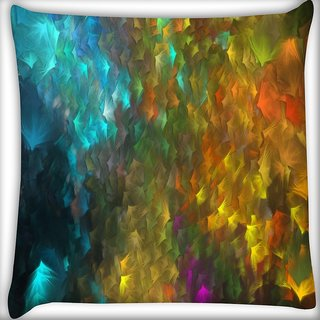 Snoogg Abstract Artistic Backdrop Digitally Printed Cushion Cover Pillow 16 x 16 Inch