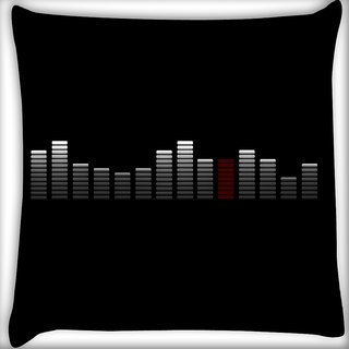 Snoogg Abstract Music Digitally Printed Cushion Cover Pillow 16 x 16 Inch
