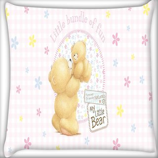 Snoogg Baby Digitally Printed Cushion Cover Pillow 16 x 16 Inch