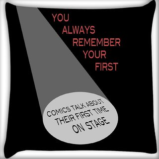 Snoogg First Blair Digitally Printed Cushion Cover Pillow 16 x 16 Inch