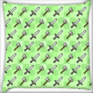 Snoogg Sword And Axe Digitally Printed Cushion Cover Pillow 20 x 20 Inch