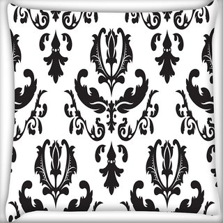 Snoogg String Pattern Digitally Printed Cushion Cover Pillow 20 x 20 Inch