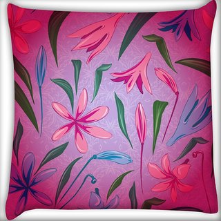 Snoogg Colorful Petals Digitally Printed Cushion Cover Pillow 20 x 20 Inch