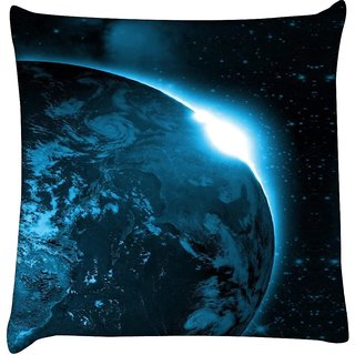 Snoogg universe view  Digitally Printed Cushion Cover Pillow 16 x 16 Inch