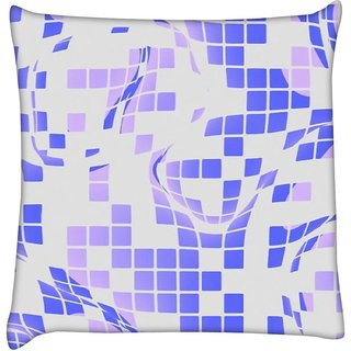 Snoogg Purple checkered Pattern 2558   Digitally Printed Cushion Cover Pillow 16 x 16 Inch