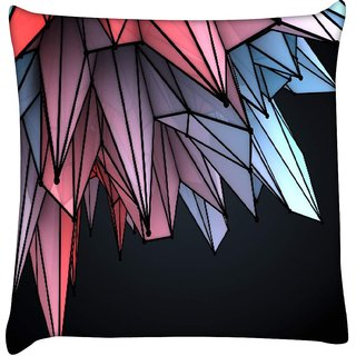 Snoogg colorful crystals 2607  Digitally Printed Cushion Cover Pillow 16 x 16 Inch