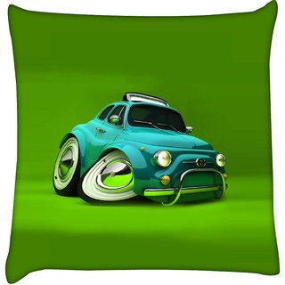 Snoogg deformed fiat 2621  Digitally Printed Cushion Cover Pillow 16 x 16 Inch