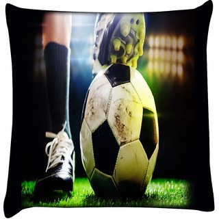 Snoogg football 2630  Digitally Printed Cushion Cover Pillow 16 x 16 Inch