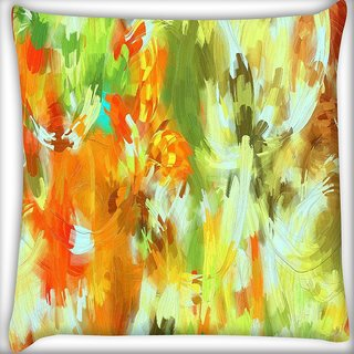 Snoogg Abstract paint Digitally Printed Cushion Cover Pillow 16 x 16 Inch