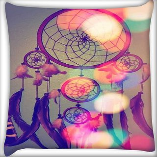 Snoogg dream catcher digital Digitally Printed Cushion Cover Pillow 16 x 16 Inch