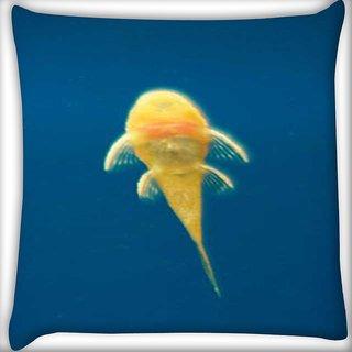 Snoogg armenia fish Digitally Printed Cushion Cover Pillow 16 x 16 Inch