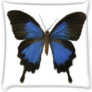 Snoogg  digital painting of a butterfly Digitally Printed Cushion Cover Pillow 16 x 16 Inch