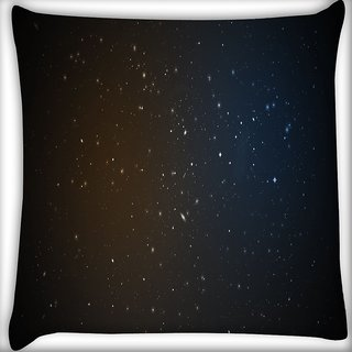 Snoogg Amazed Stars Digitally Printed Cushion Cover Pillow 16 x 16 Inch