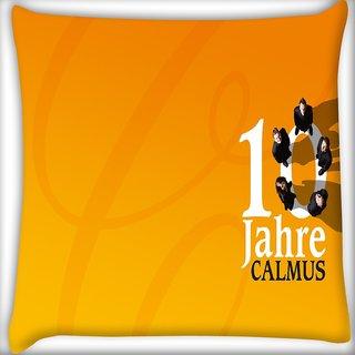 Snoogg 10 Jahre Calmus Digitally Printed Cushion Cover Pillow 16 x 16 Inch
