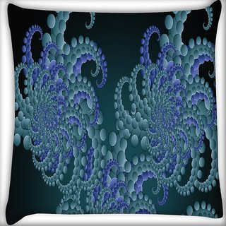Snoogg Fractal Circles Abstract Digitally Printed Cushion Cover Pillow 16 x 16 Inch