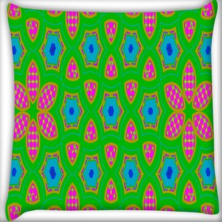 Snoogg Geometrical Pattern Digitally Printed Cushion Cover Pillow 16 x 16 Inch