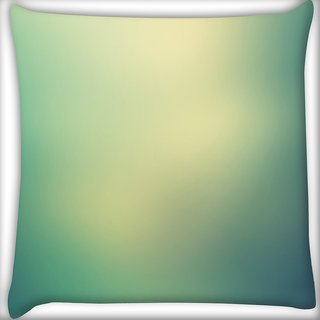 Snoogg Lite Green Background Design Digitally Printed Cushion Cover Pillow 16 x 16 Inch