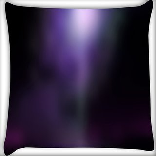 Snoogg Black And Purple Design Digitally Printed Cushion Cover Pillow 16 x 16 Inch
