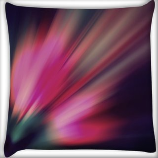 Snoogg Abstract Pink Rays Digitally Printed Cushion Cover Pillow 16 x 16 Inch