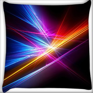 Snoogg Colortful Lighter Digitally Printed Cushion Cover Pillow 16 x 16 Inch