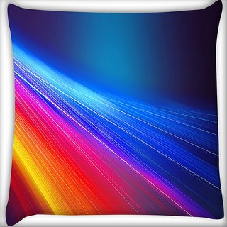 Snoogg Multicolor Pathway Digitally Printed Cushion Cover Pillow 16 x 16 Inch