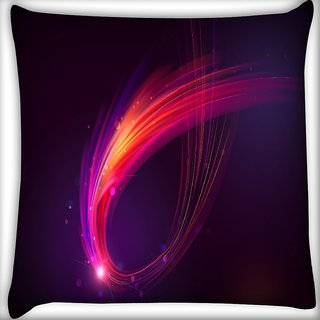 Snoogg Multicolor Sparkling Rays Digitally Printed Cushion Cover Pillow 16 x 16 Inch