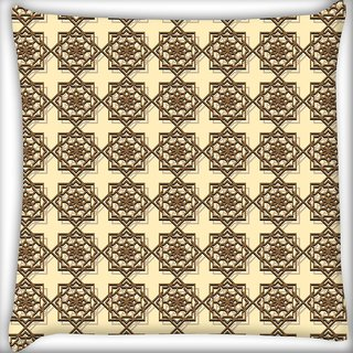 Snoogg Abstract Brown Pattern Design Digitally Printed Cushion Cover Pillow 20 x 20 Inch