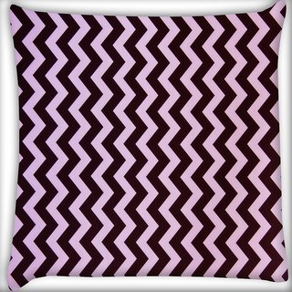 Snoogg Dark And Light Color Strips Digitally Printed Cushion Cover Pillow 20 x 20 Inch