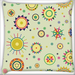 Snoogg Yellow Pattern Design Digitally Printed Cushion Cover Pillow 20 x 20 Inch