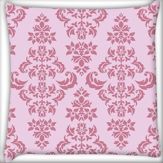Snoogg Pink Pattern Digitally Printed Cushion Cover Pillow 20 x 20 Inch