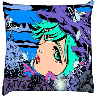 Snoogg mermaid among 2657  Digitally Printed Cushion Cover Pillow 16 x 16 Inch