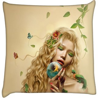 Snoogg mother nature 2661  Digitally Printed Cushion Cover Pillow 16 x 16 Inch