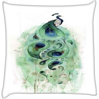 Snoogg  Feather Strip  Digitally Printed Cushion Cover Pillow 16 x 16 Inch