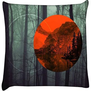 Snoogg nature 2664  Digitally Printed Cushion Cover Pillow 16 x 16 Inch