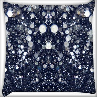 Snoogg Glitter night Digitally Printed Cushion Cover Pillow 16 x 16 Inch
