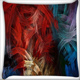 Snoogg Splash strokes Digitally Printed Cushion Cover Pillow 16 x 16 Inch