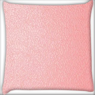 Snoogg pink distorted water Digitally Printed Cushion Cover Pillow 16 x 16 Inch