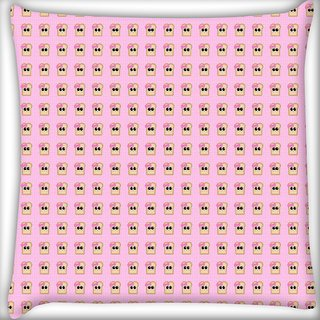 Snoogg Girly Toast Digitally Printed Cushion Cover Pillow 16 x 16 Inch