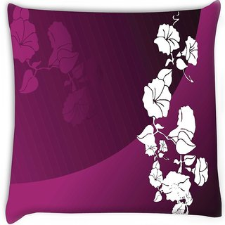 Snoogg  abstract vector wallpaper of floral themes in gradient purple Digitally Printed Cushion Cover Pillow 16 x 16 Inch